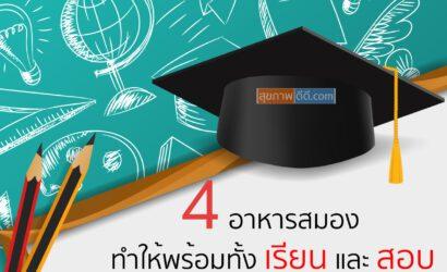 4 อาหารสมอง เพื่อเตรียมพร้อมกับการเรียน และ การสอบ