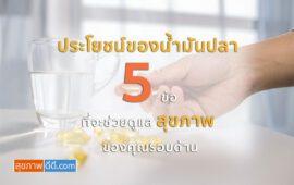 ประโยชน์ของน้ำมันปลา 5 ข้อ