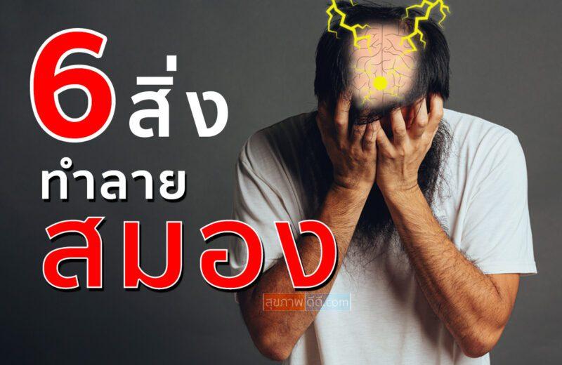 6 สิ่งทำลายสมอง